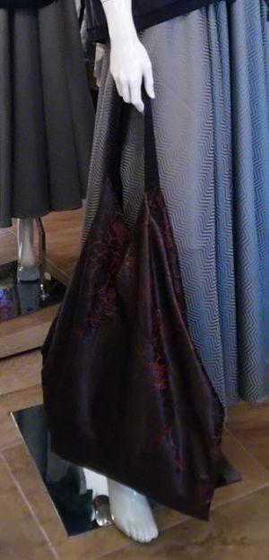 Origami-Tasche-schwarz-rot