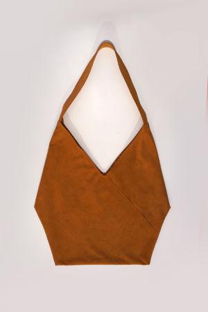 Origami-tasche-leder Senfgelb