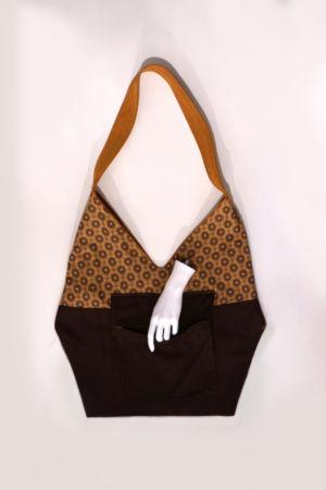 Origami-tasche-leder Senfgelb Innen Tasche